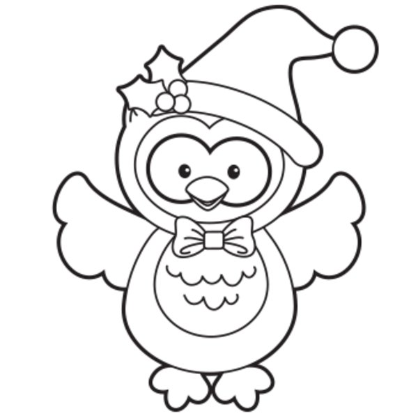 Cute Printable Owl Coloring Pages