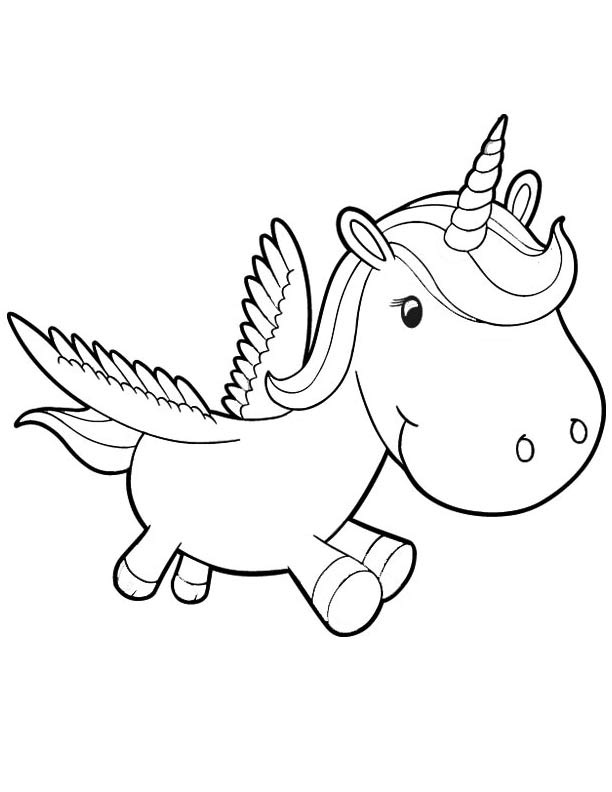 Baby Unicorn Coloring Pages Preschool