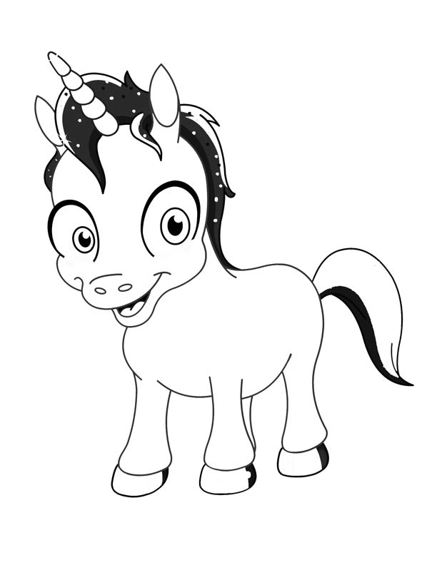 Baby Unicorn Coloring Sheets