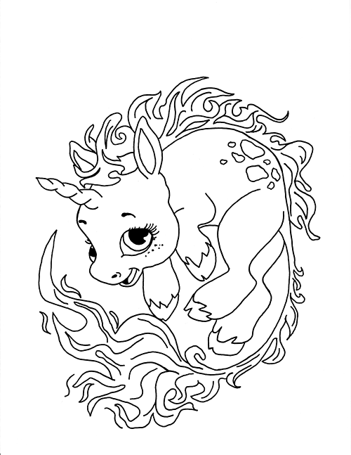 Unicorn Coloring Pages 360ColoringPages