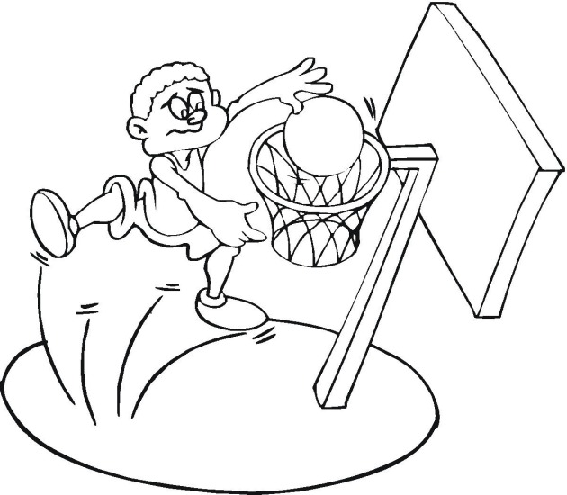 Fun Basketball Coloring Pages for Print