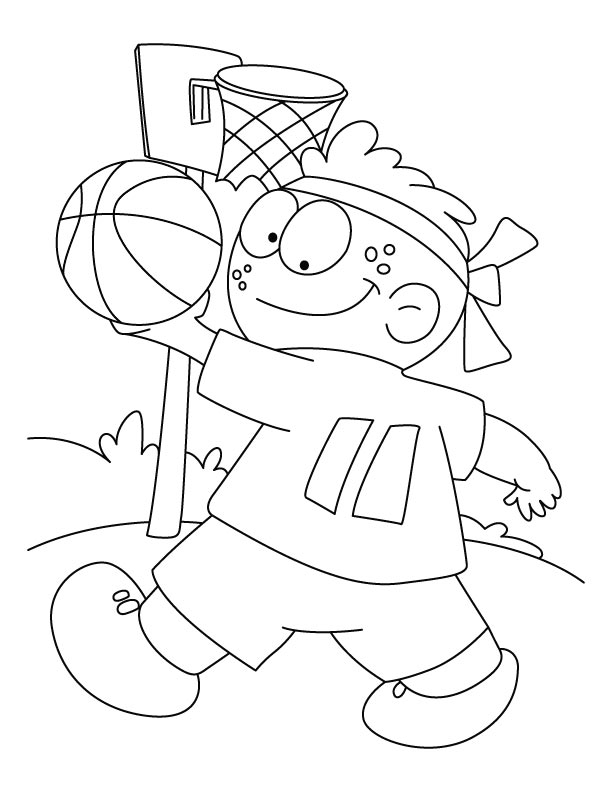 Printable Basketball Coloring Pages for Kids