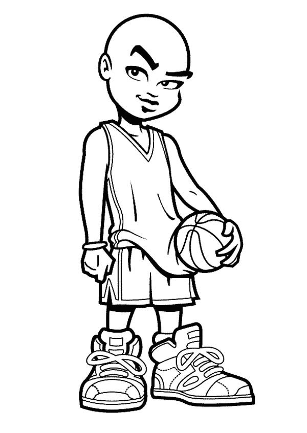basketball player printable coloring pages - photo#44