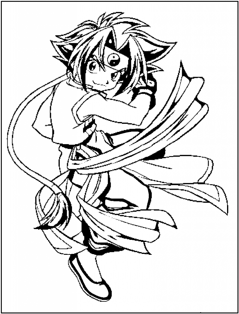 Downloand Beyblade Coloring Sheets