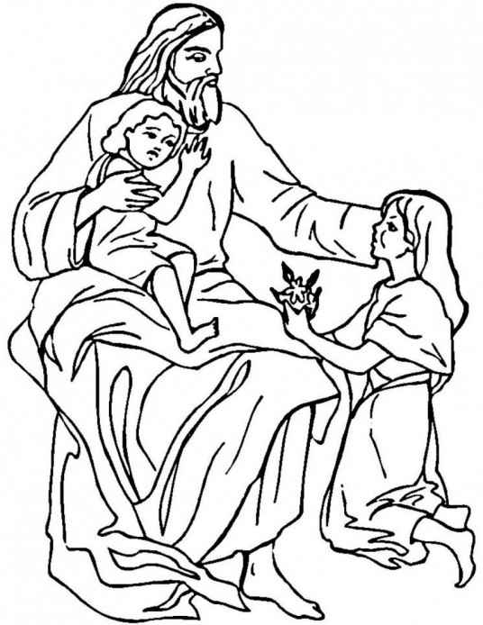 Bible Coloring Sheets on Jesus Printable