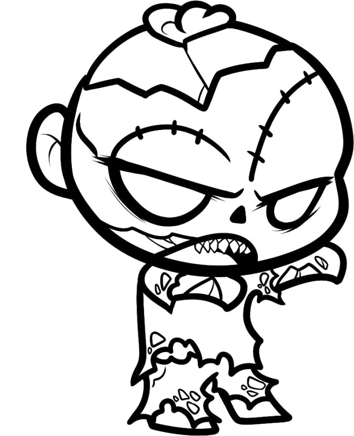zombie printable coloring pages - zombie coloring pages 360coloringpages