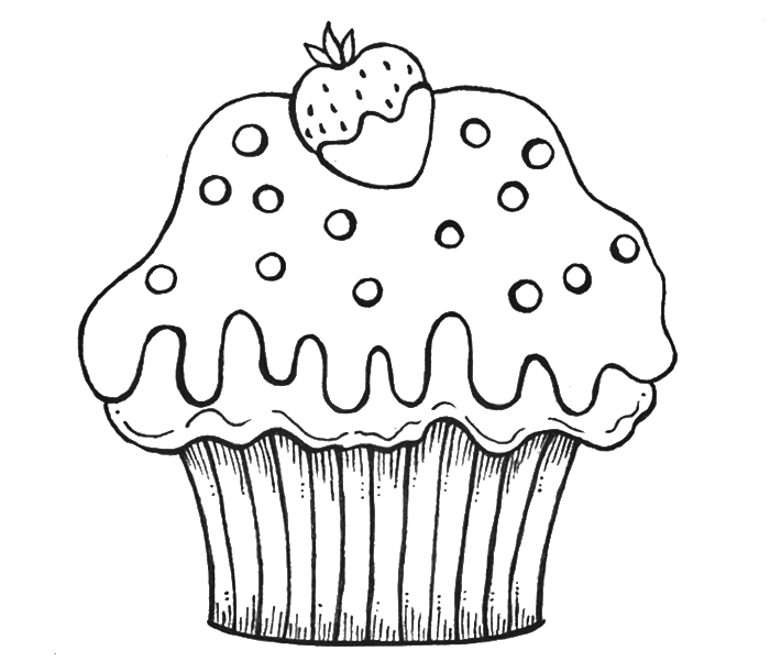 Cupcake Coloring Pages for Preschoolers