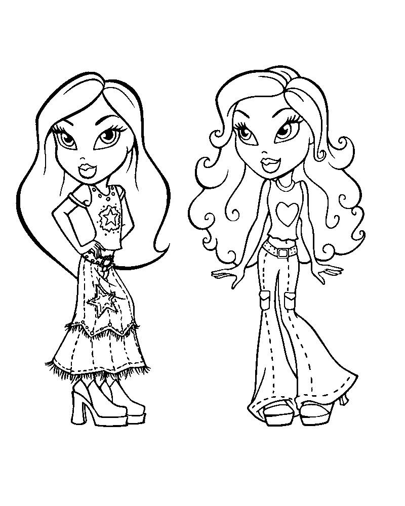 Download Bratz Coloring Pages Free Printable