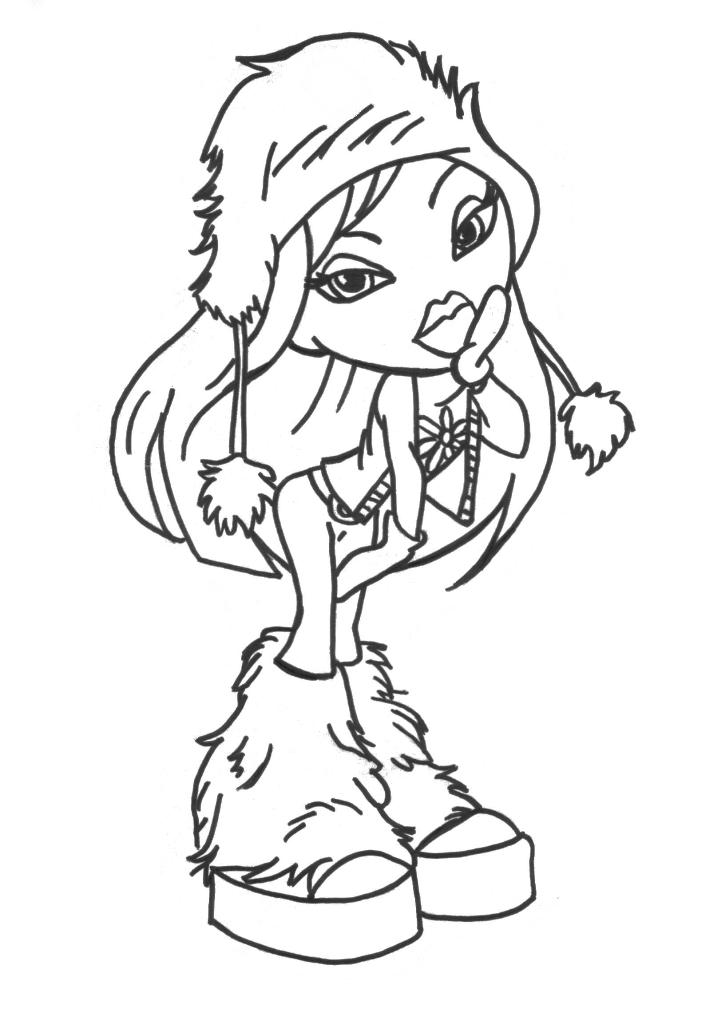 Free Bratz Coloring Pages for Print