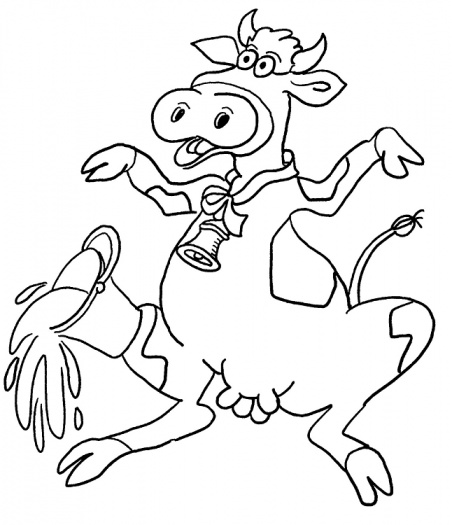 Cute Cow Coloring Pages for Kids