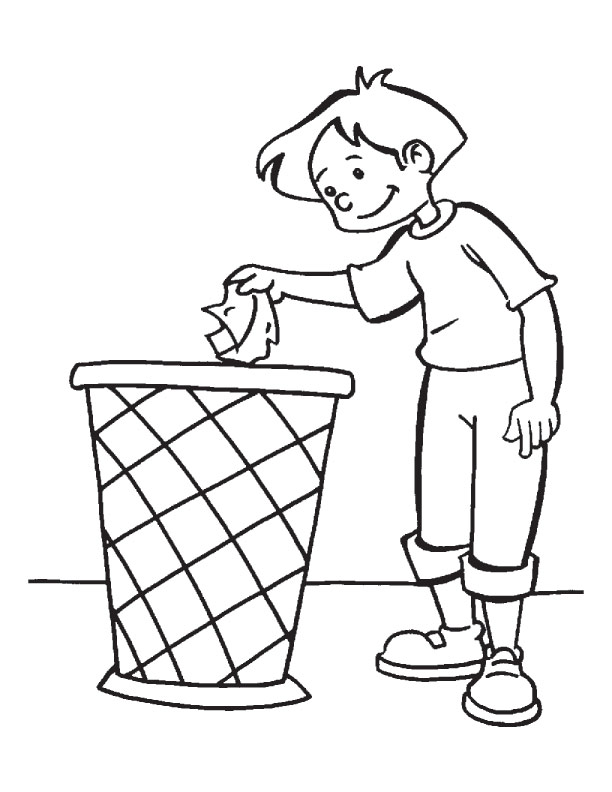 Cleanliness for Earth Day Coloring Pages for Kids