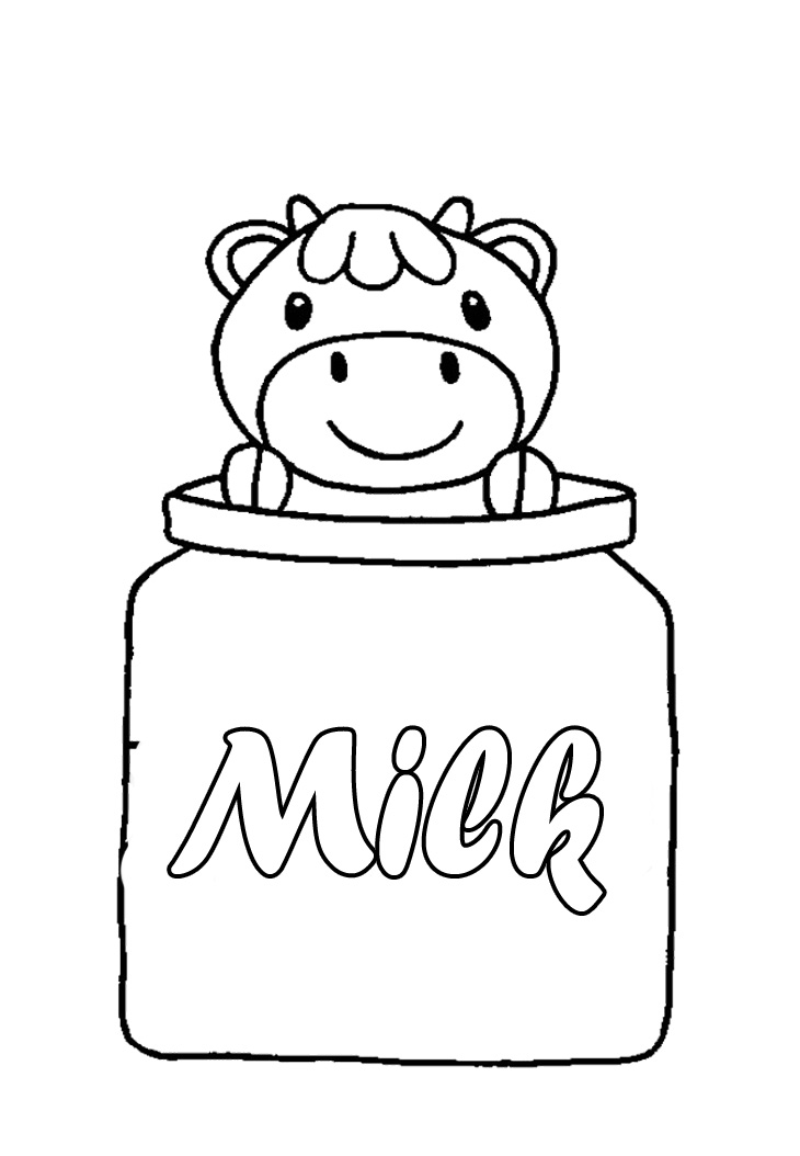 Cute Cow Coloring Pages Printable