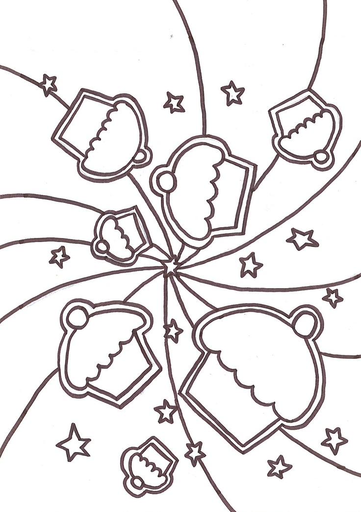 Cupcake Coloring Pages Free Print