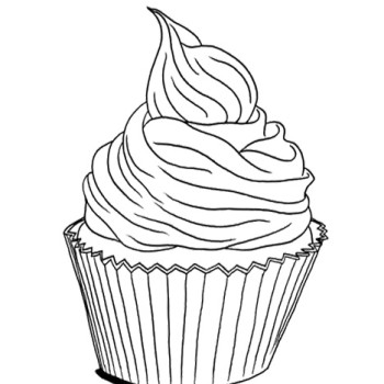 Cupcake Coloring Sheets to Print