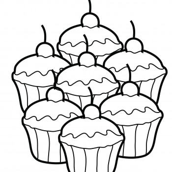 Free Cupcake Coloring Sheets for Print