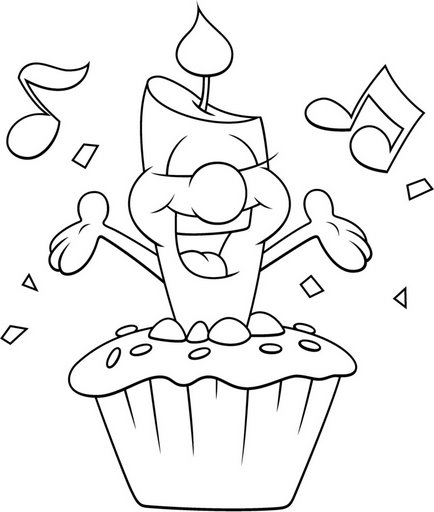 Cupcake Coloring Sheets Kids Printable