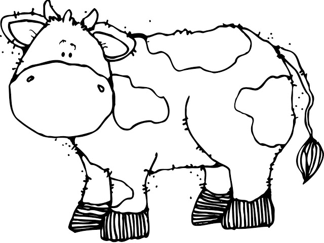 Cow Coloring Pages 360coloringpages
