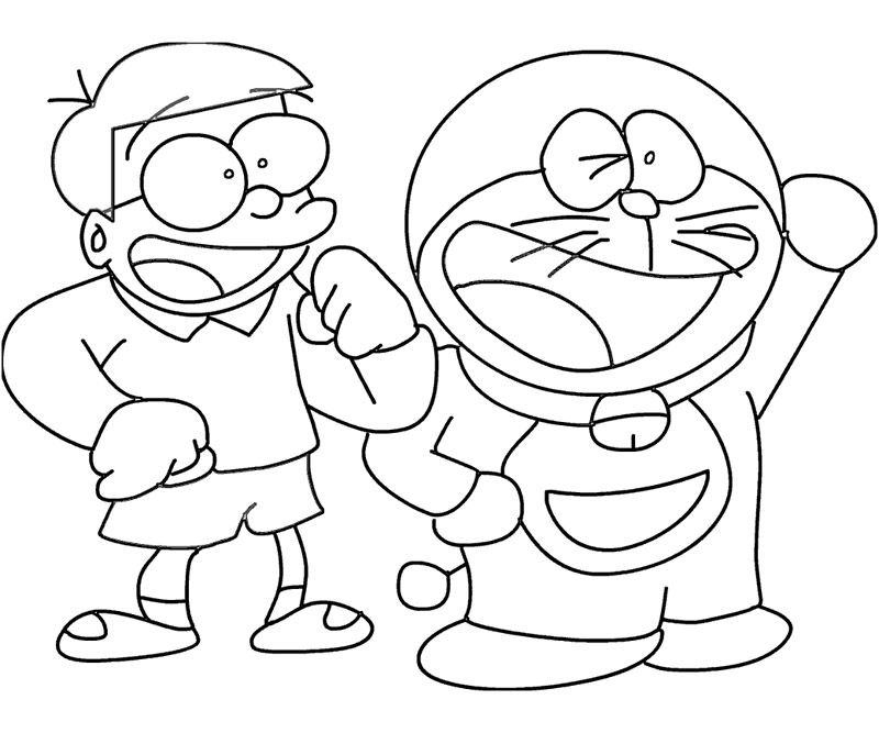 Doraemon coloring pages 360coloringpages for Disegni da colorare doraemon