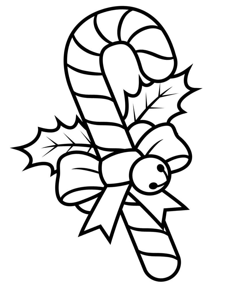 candy canes christmas coloring pages - photo#6