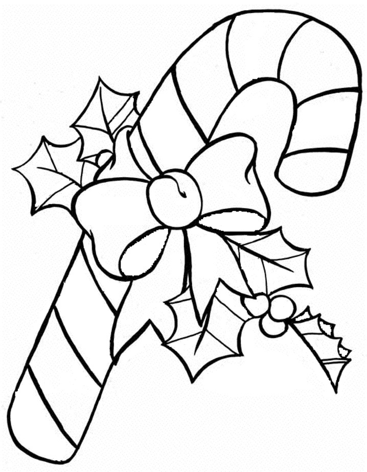 Download Candy Cane Coloring Pages