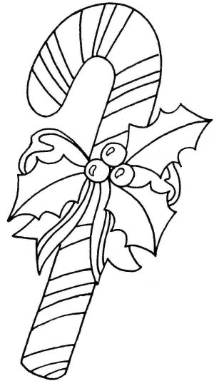 Download Candy Canes Coloring Sheets for Kids