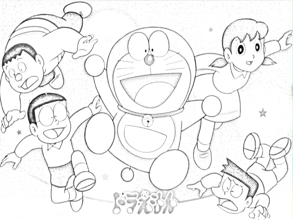 Printable Doraemon and Friends Coloring Pages