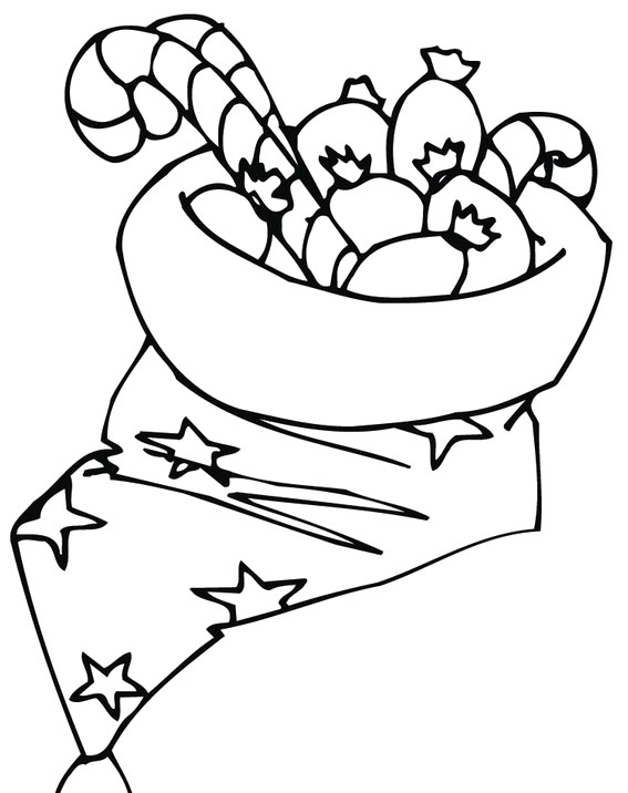 Free Candy Canes Coloring Pages