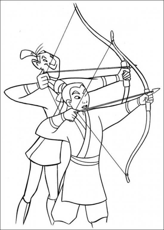 Download Free Mulan Coloring Sheets
