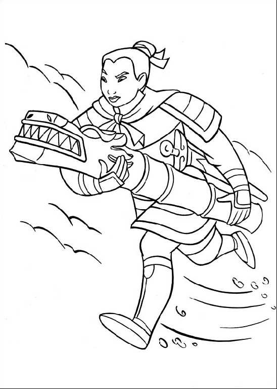 Download Mulan Coloring Sheets for Kids