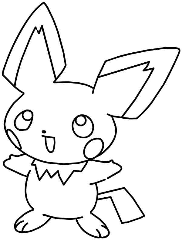 Free Pikachu Coloring Sheets for Kids