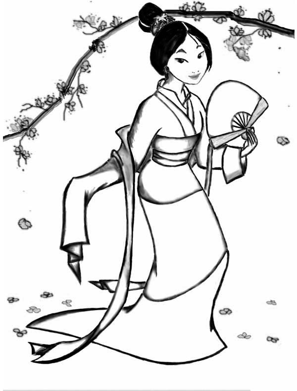 Download Printable Mulan Coloring Pages for Kids