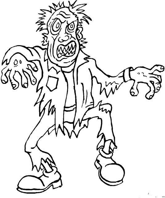 Download Zombie Coloring Sheet for Kids