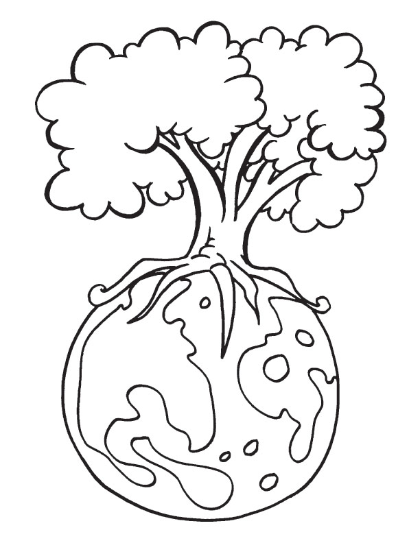 Download Earth Day Coloring Pages for Kids
