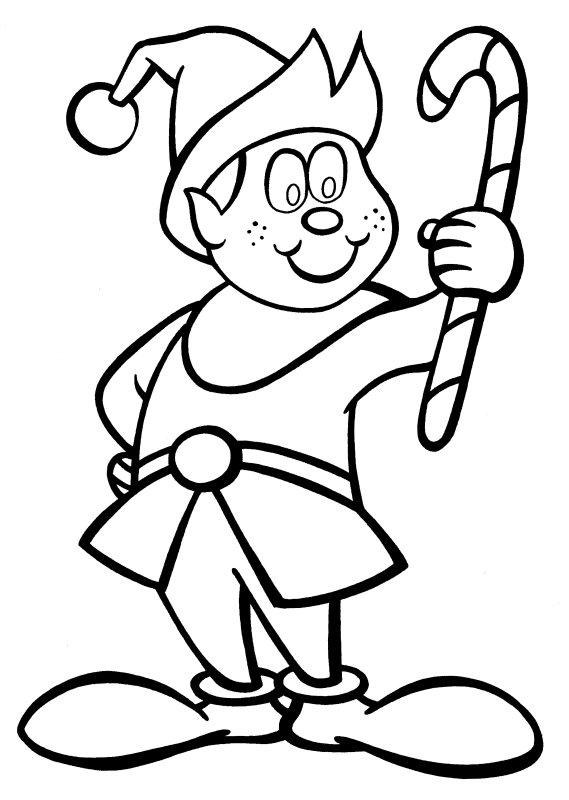 elf christmas coloring pages printable - photo#22
