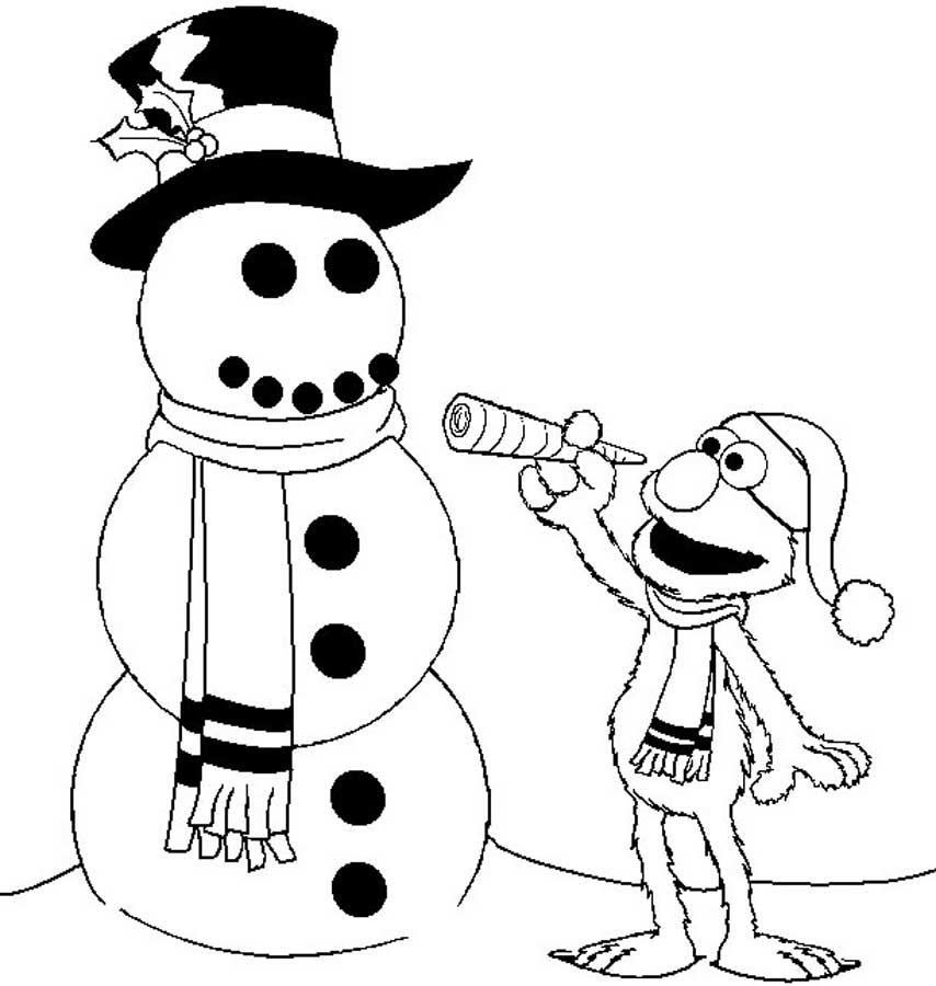 Download Elmo Coloring Page Print Pages