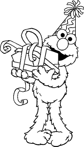 Elmo Coloring Page for Kids