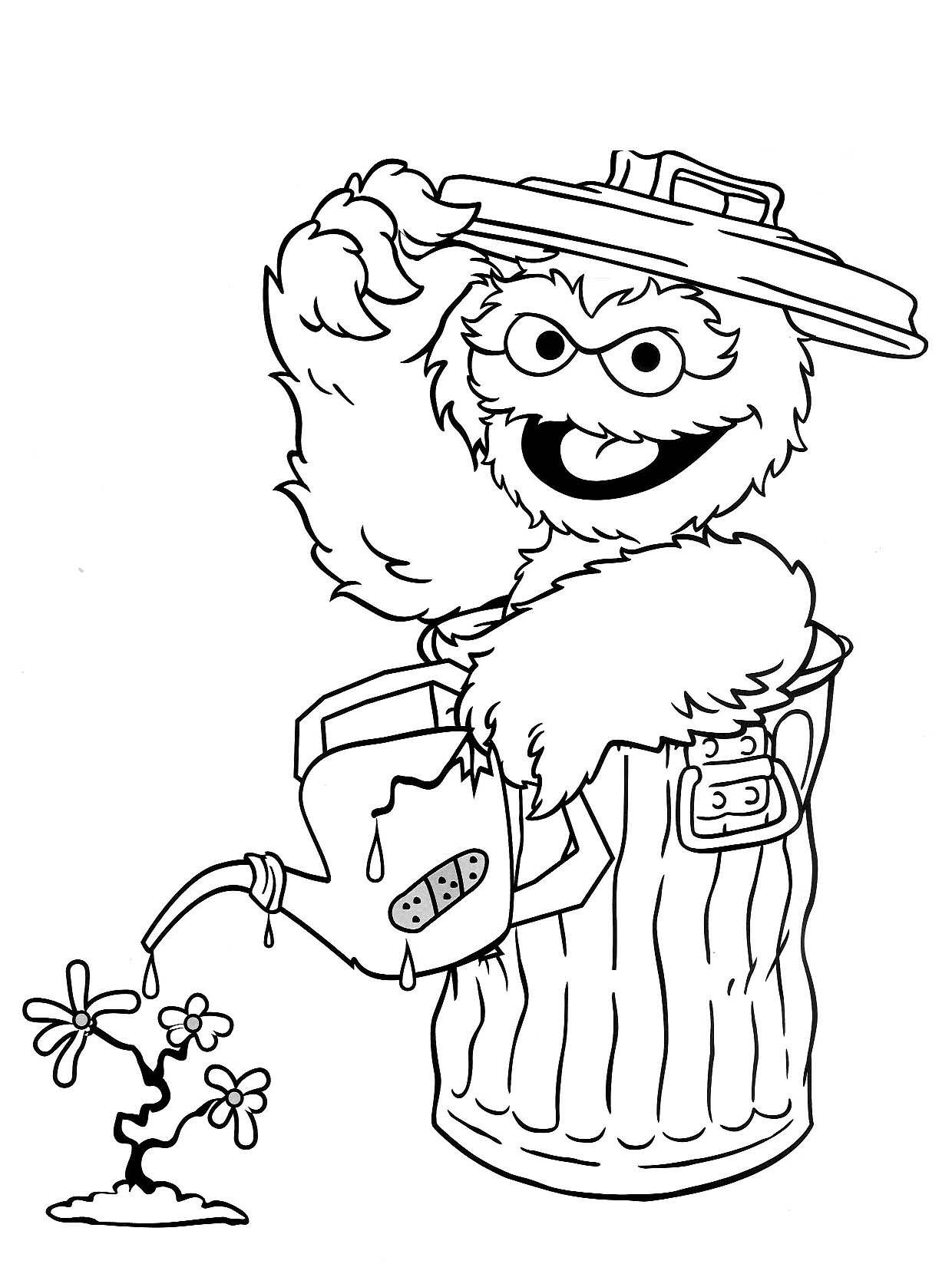 Printable Elmo Coloring Sheet Sheets For Kids