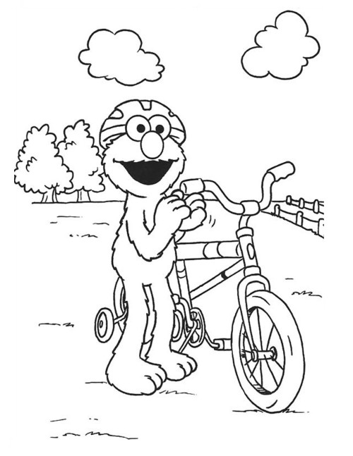 Free Elmo Coloring Sheets for Kids