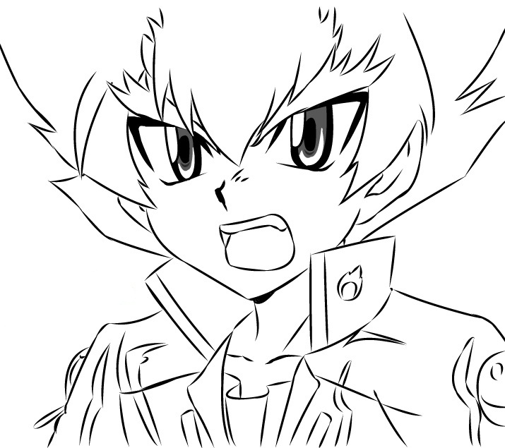 ginga beyblade coloring pages - photo#21