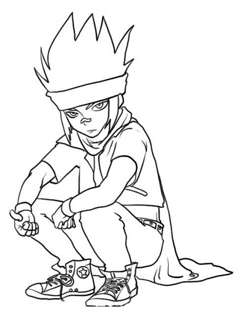 Free Beyblade Coloring Pages for Download