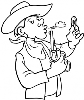 Cowboy Coloring Page for Free