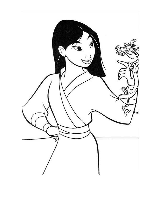 Free Download Mulan Coloring Pages for Kids