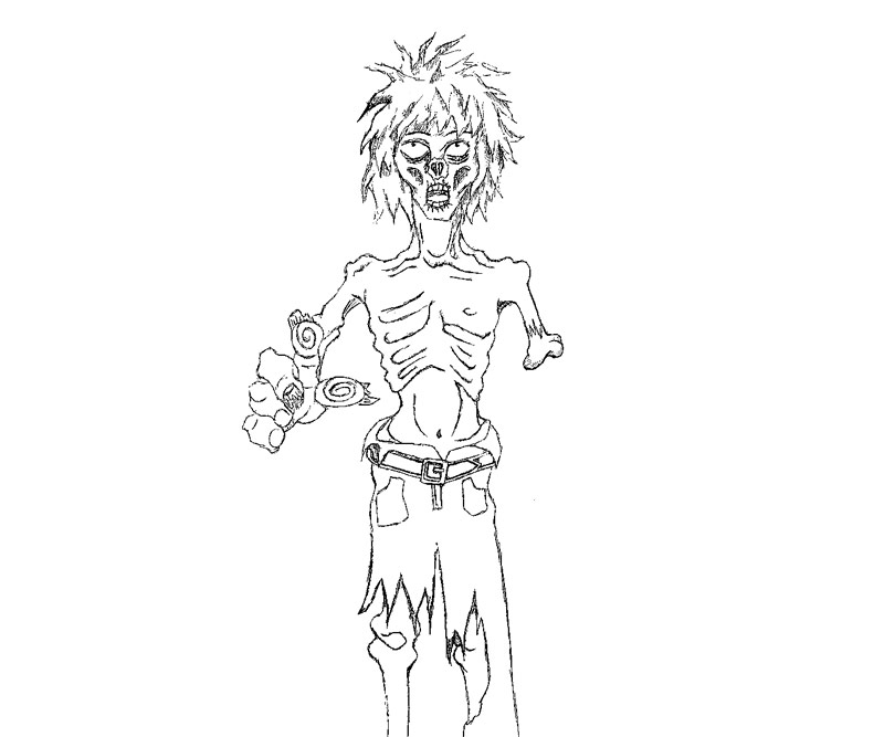 Free Download Zombie Coloring Pages