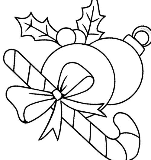 Free Download of Candy Canes Coloring Pages for Kids