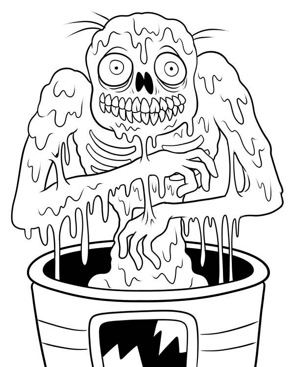 Free Download of Zombie Coloring Sheets for Kids