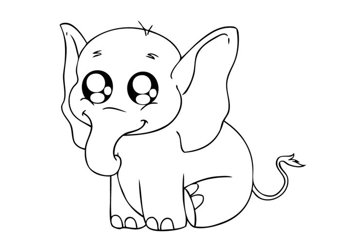 Free Elephant Coloring Pages for Print