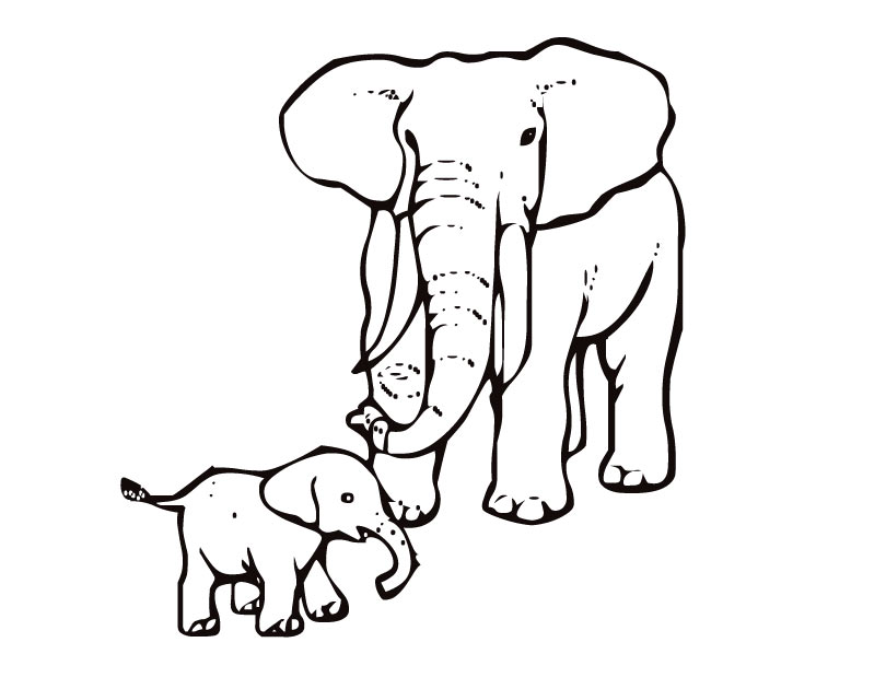 Free Printable Elephant Coloring Sheets for Kids