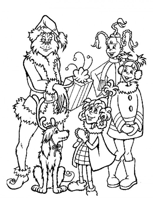 Grinch Coloring Sheets