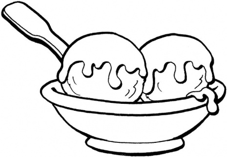 Ice Cream Coloring Page Free Download