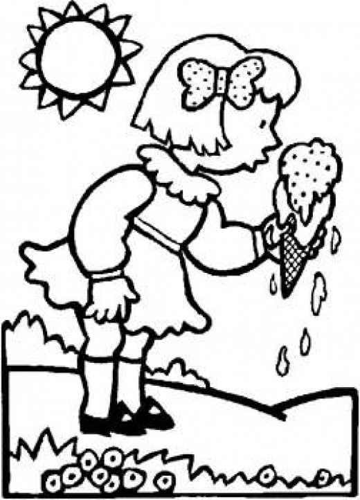Free Ice Cream Coloring Sheets